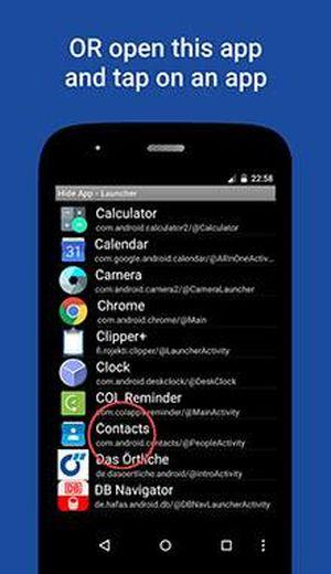 Утилита Hide App