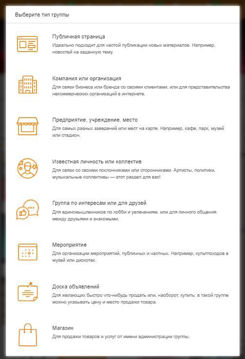 Типы страниц