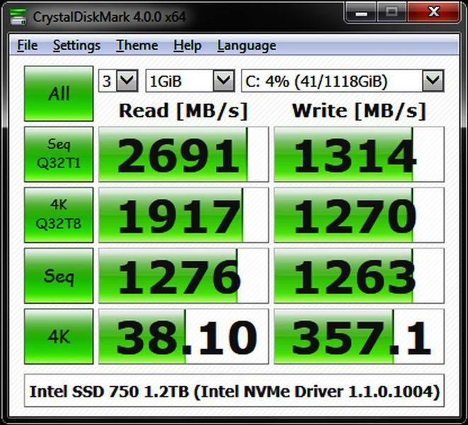 Проверка дисков с CrystalDiskMark