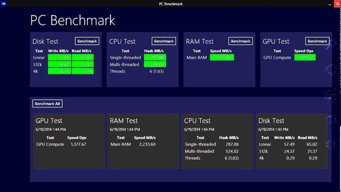 Приложение PC Benchmark
