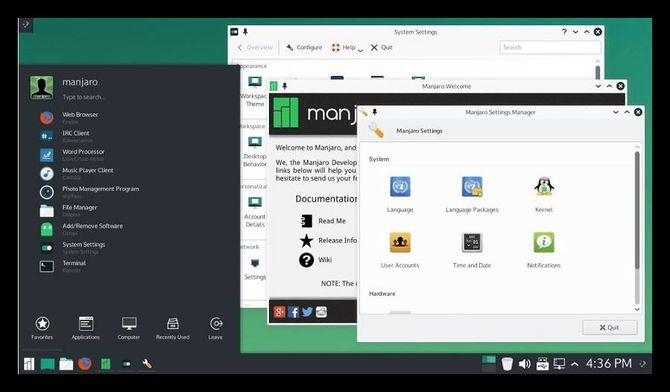 Линукс Manjaro