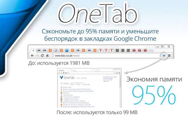 Дополнение OneTab