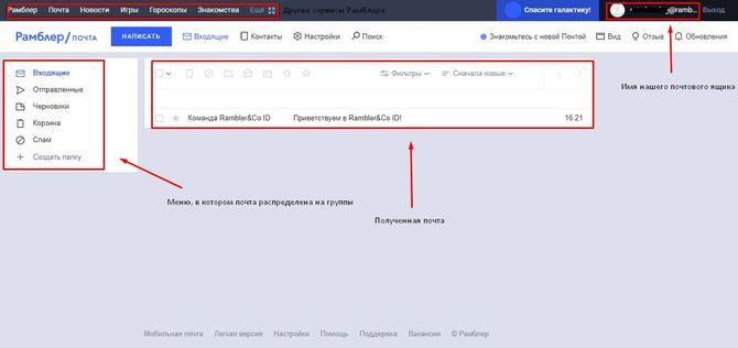 Интерфейс страницы