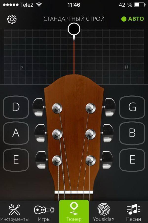Приложение Guitar Tuna