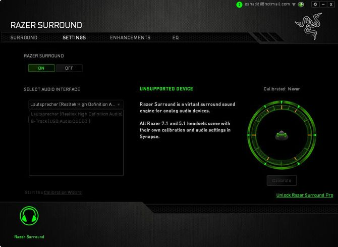 Программа Razer Surround