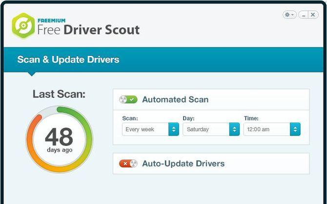 Программа Driver Scout