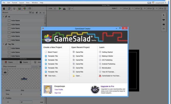 Игры в GameSalad