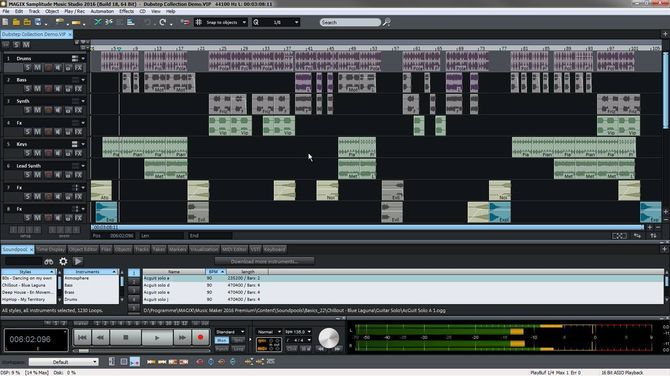 Приложение MAGIX Samplitude Music Studio