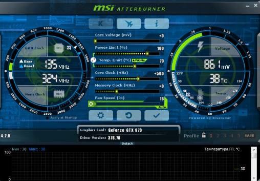 Программа MSI Afterburner