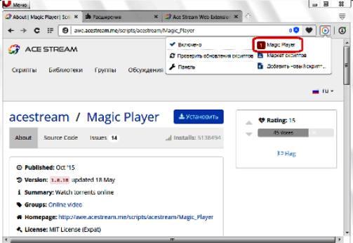 Расширение TS Magic Player
