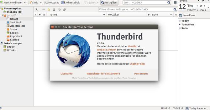 Почтовик Thunderbird