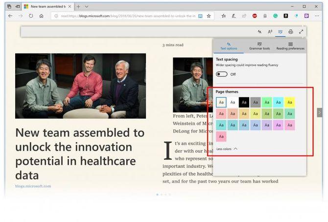 Новинки Microsoft Edge