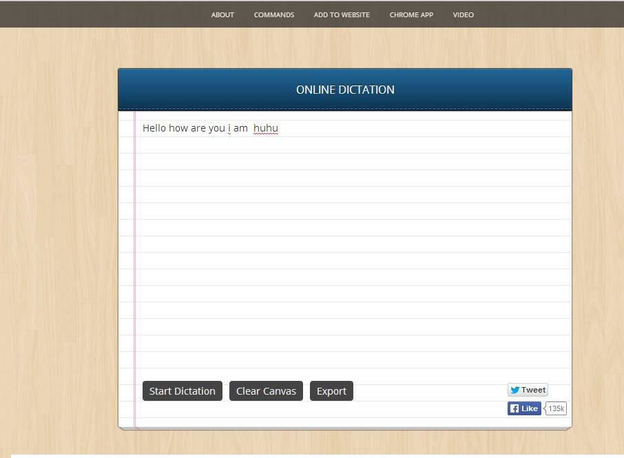 Online Dictation