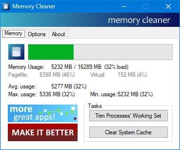 Приложение Memory Cleaner