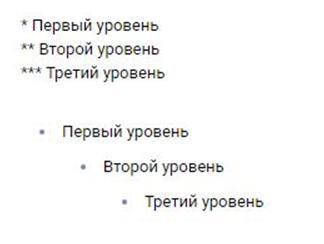 Маркированный список