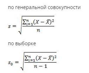 Формула отклонений