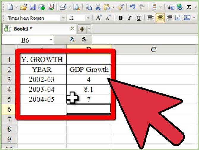 Ввод в Excel