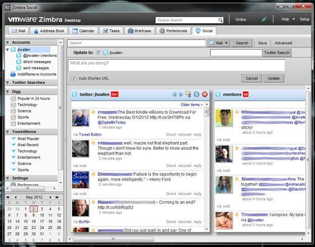 Программа Zimbra Desktop