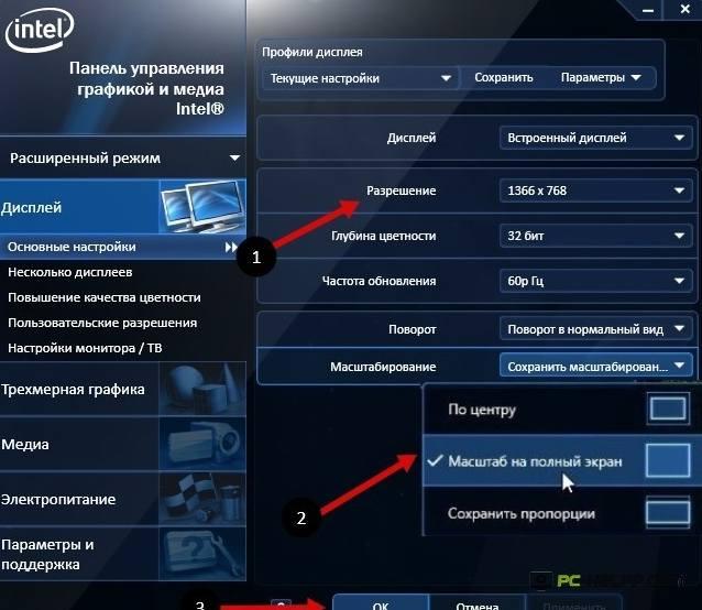 Панель Intel