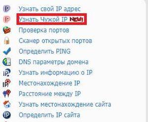 Узнать чужой IP