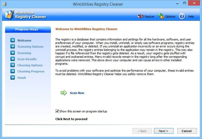 WinUtilities Free Registry Cleaner