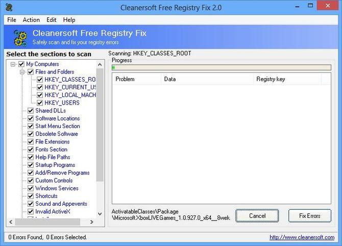 Free Registry Fix