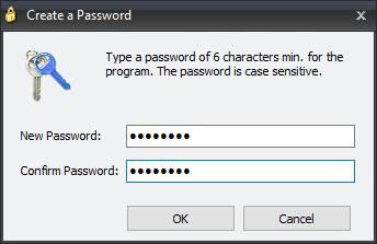 Создание нового пароля