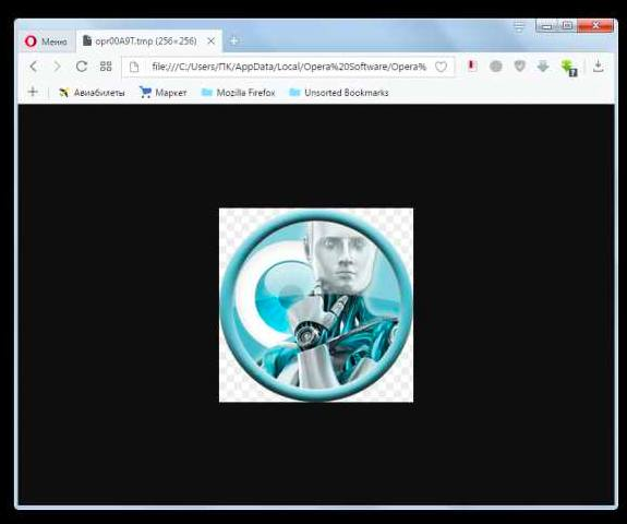 Открытие в браузере