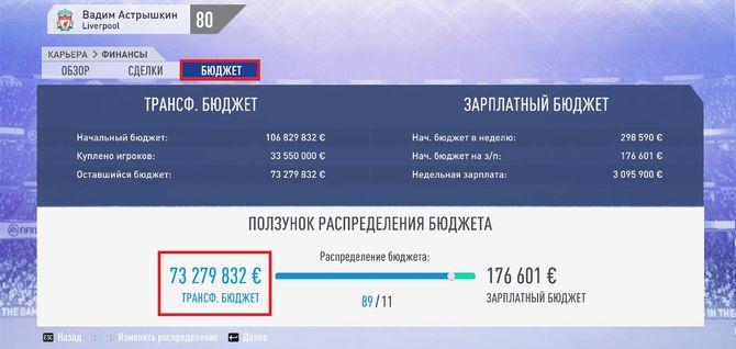 Раздел Бюджет