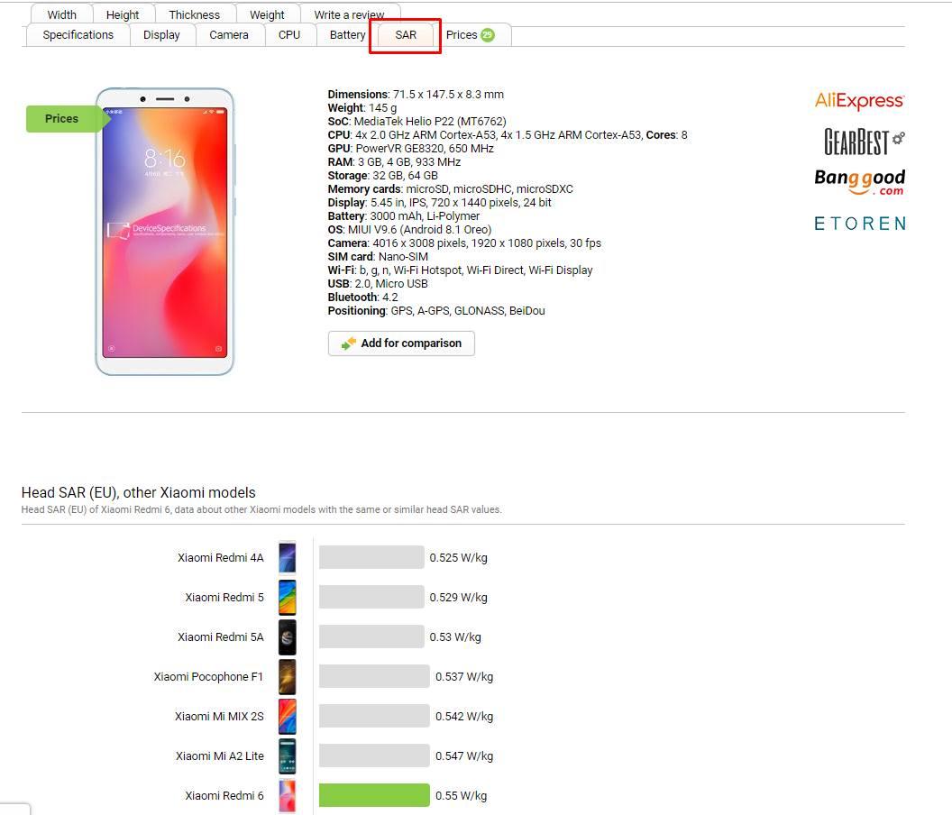 Сервис devicespecifications