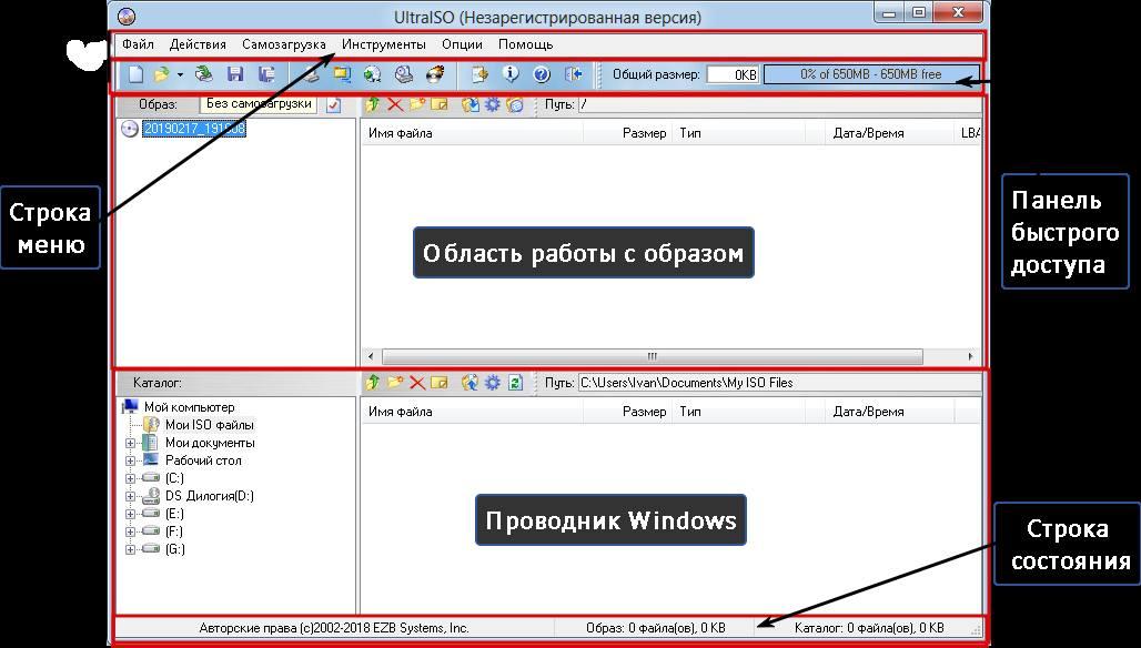 Обзор интерфейса