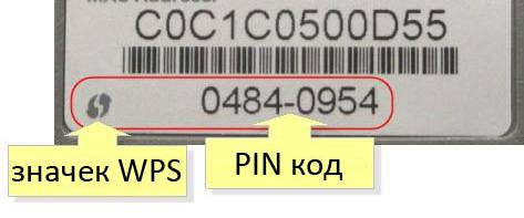 Пин код для WPS