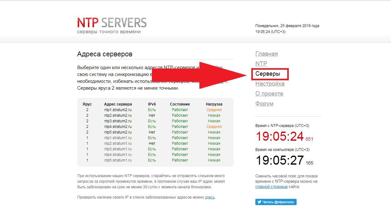 NTP-Servers