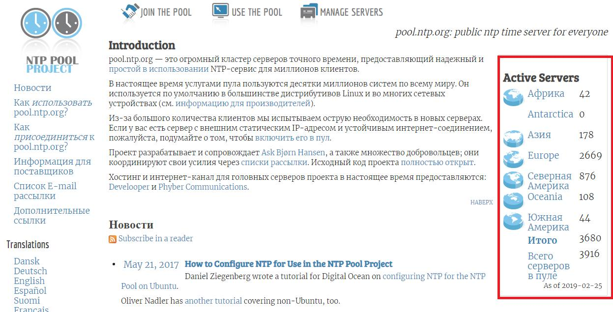 NTP Pool Project