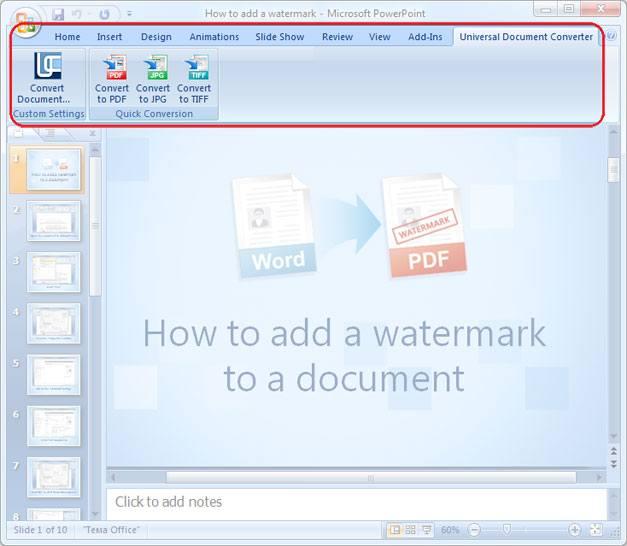 Конвертировать в PDF