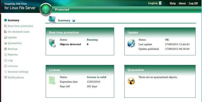 Kaspersky Anti-Virus for Linux Server