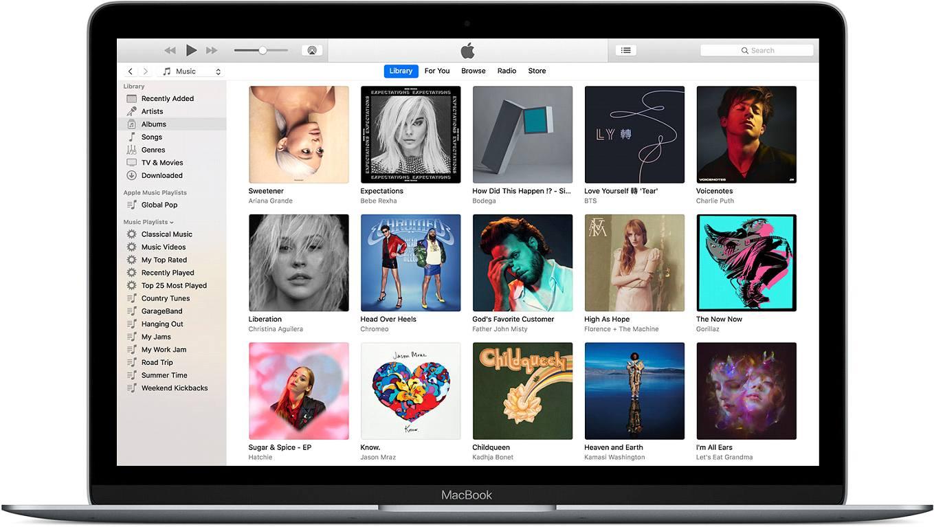 открытие в iTunes