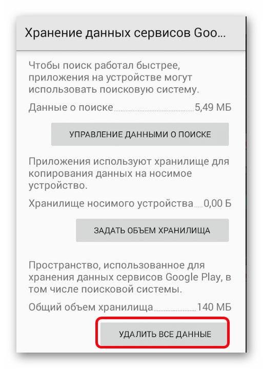 Удалить данные