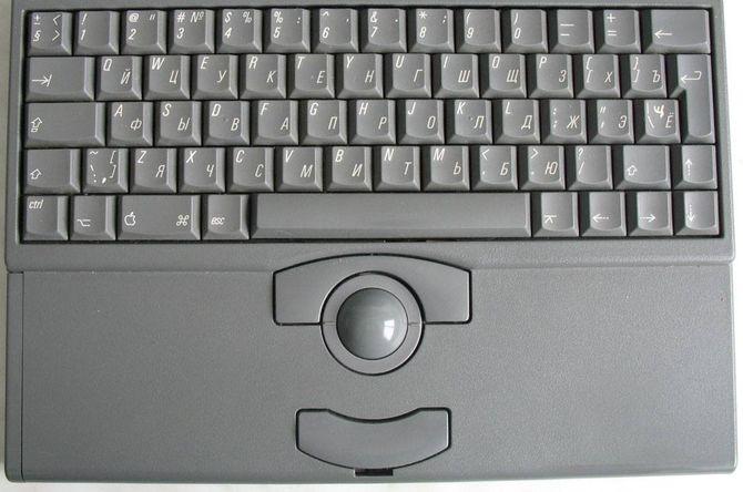 Трекбол на клавиатуре