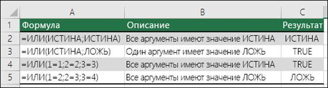 Оператор ИЛИ