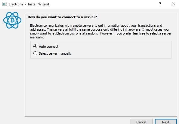 Select server manually