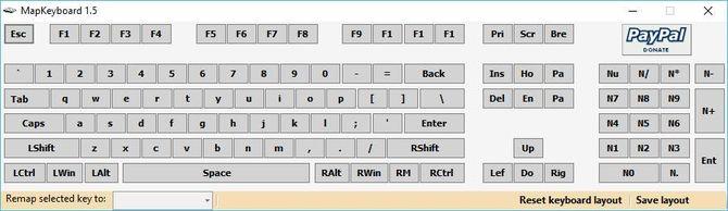 Reset keyboard layout