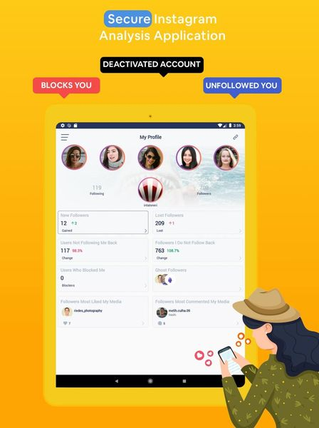 Followers & Likes Tracker for Instagram – Repost